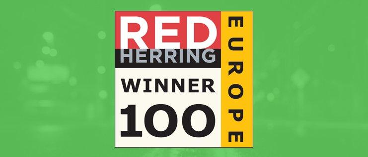Red herring winner europe logo