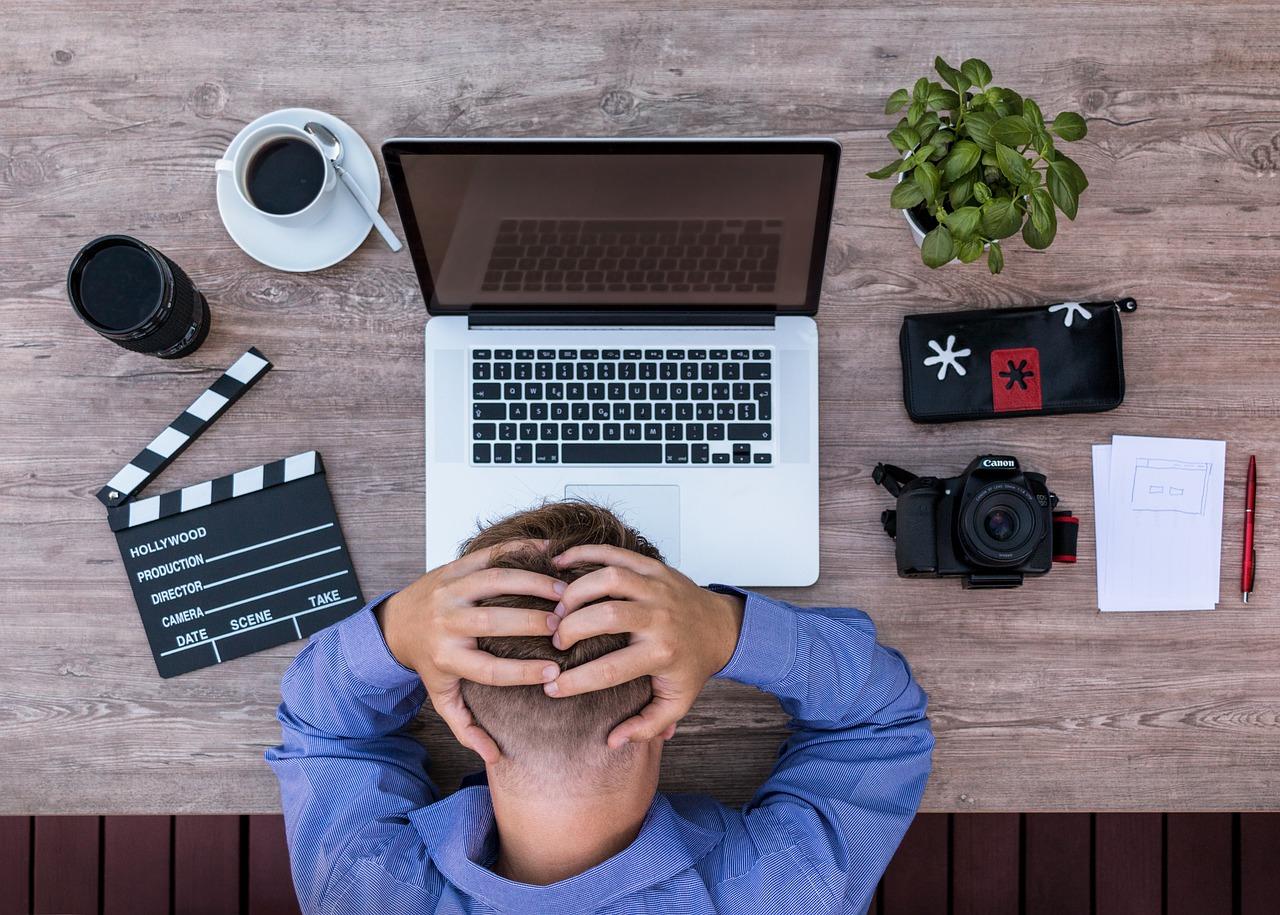 huvudvärk datorskärm